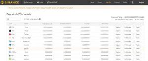 trasferire bitcoin binance